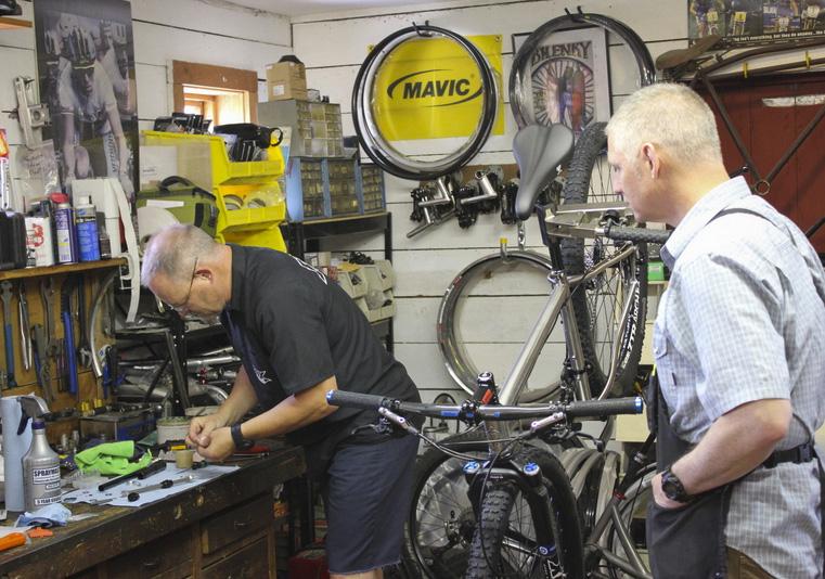 two bike mechanics at red barn bicycles