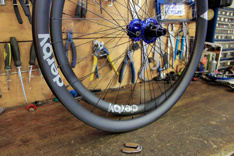 derby wheels on workbench custom made